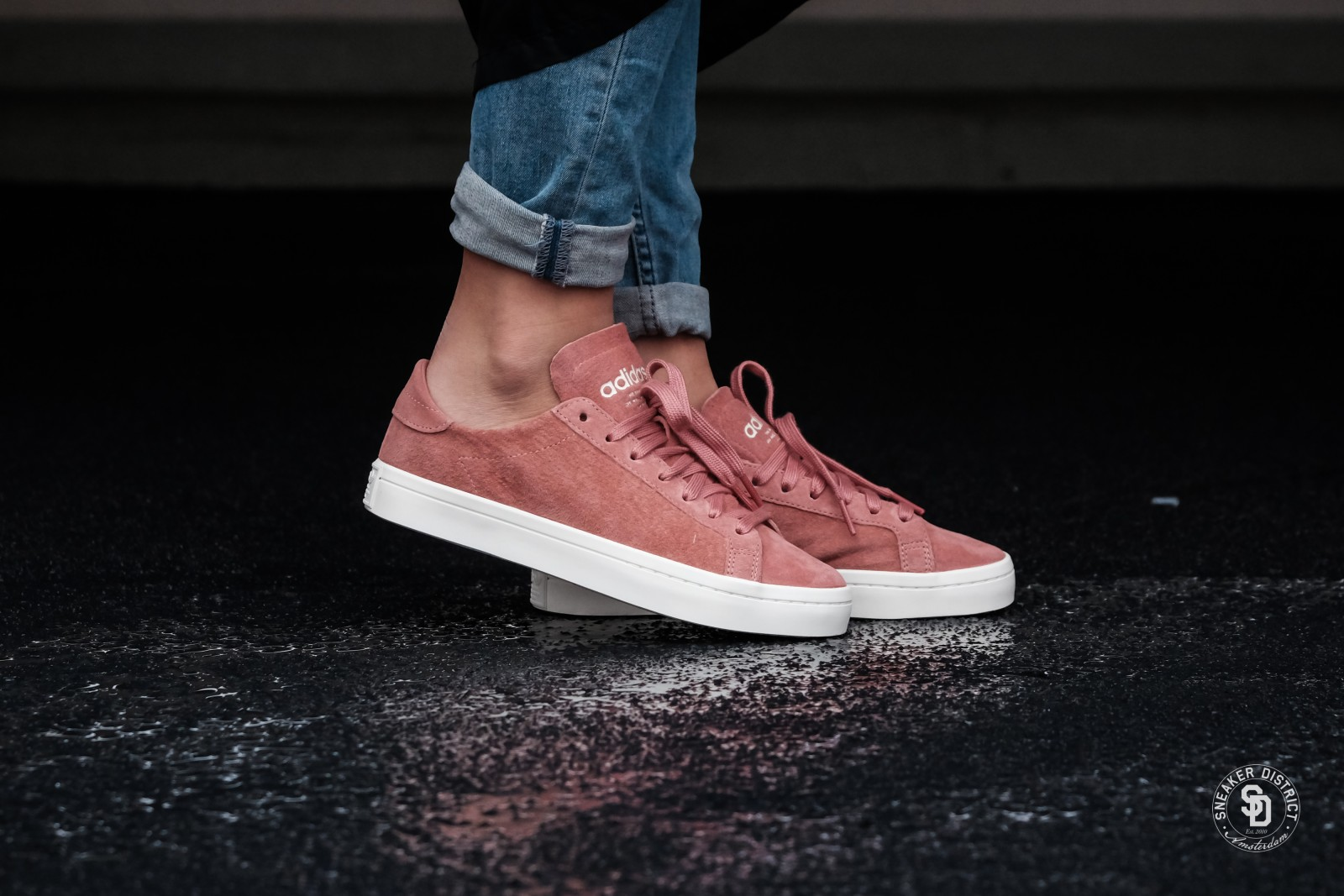 ba3896139d21 adidas Embraces The Suede Trend In Cute Court Vantage Kicks