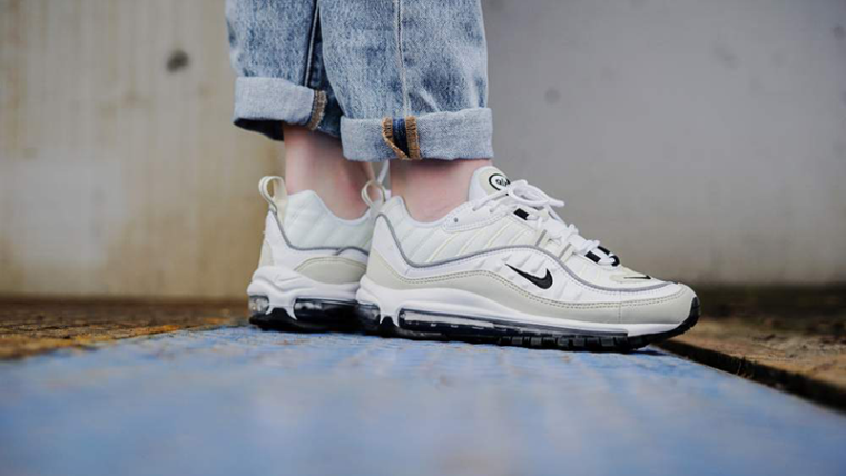 Nike Air Max 98 White Fossil Women s  9336e7289