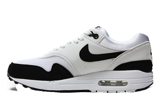 design intemporel 6697f 196d7 Nike Air Max 1 White Black Womens | 319986-109