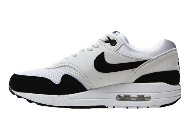 Nike Air Max 1 White Black Womens | 319986 109
