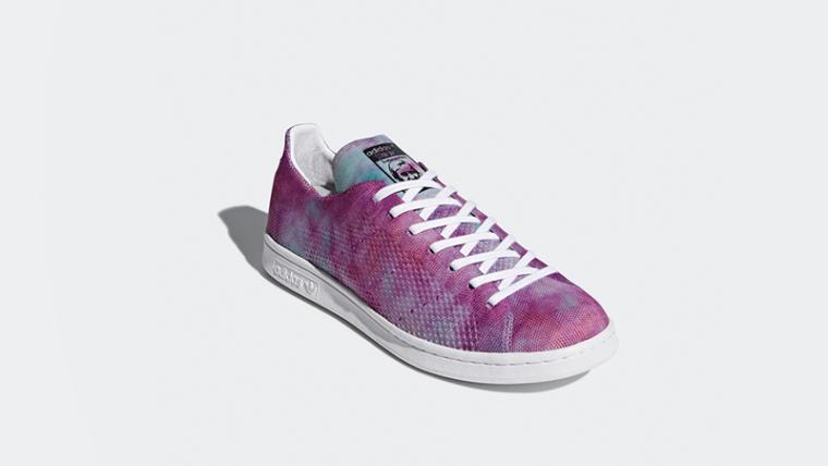 b5387b9999636 Pharrell x adidas Stan Smith Hu Holi Pink Glow