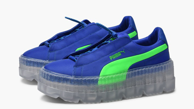 online store 53be0 93116 Rihanna x PUMA Fenty Cleated Creepers Blue Womens | 367681-01