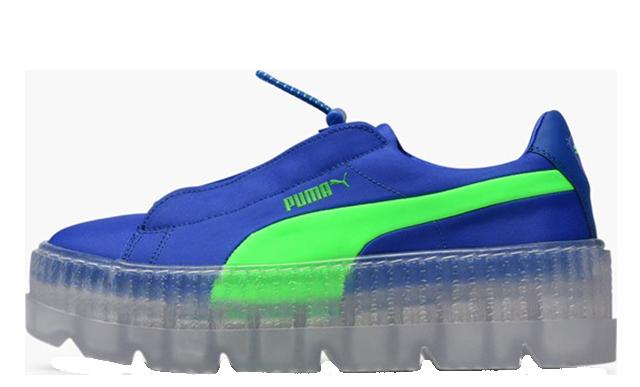 Rihanna x PUMA Fenty Cleated Creepers Blue Womens | 367681-01