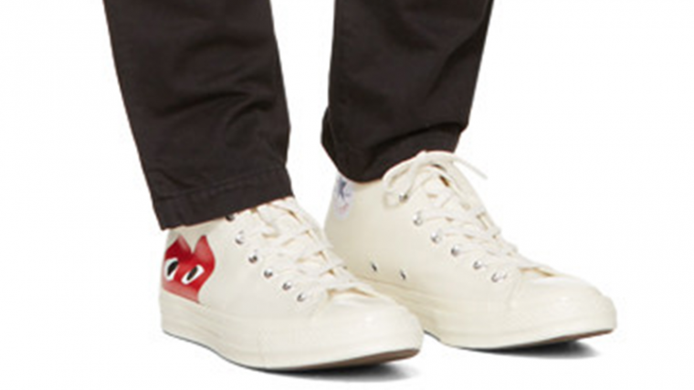 d685f873f67e Comme des Garcons Play x Converse Chuck Taylor All Star 70 Hi White ...