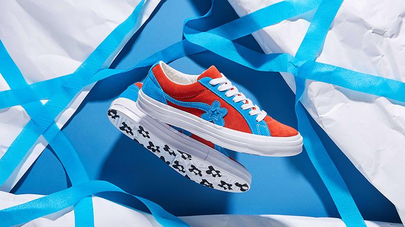 Converse x Golf Le Fleur One Star Lava Blue 162126C 03