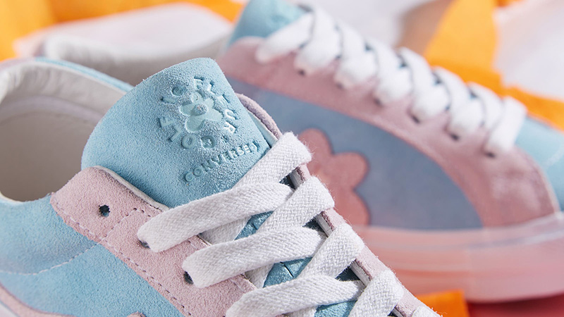 Converse x Golf Le Fleur One Star Pink Blue 162127C 01