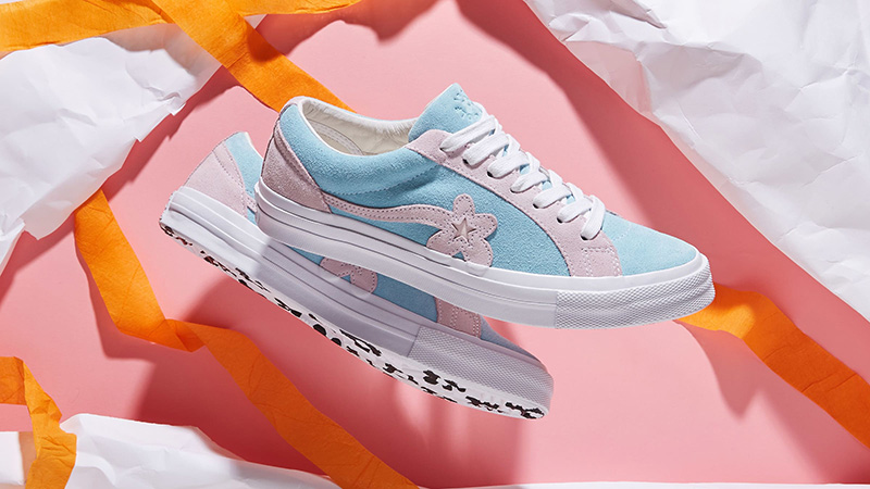 Converse x Golf Le Fleur One Star Pink Blue 162127C 03