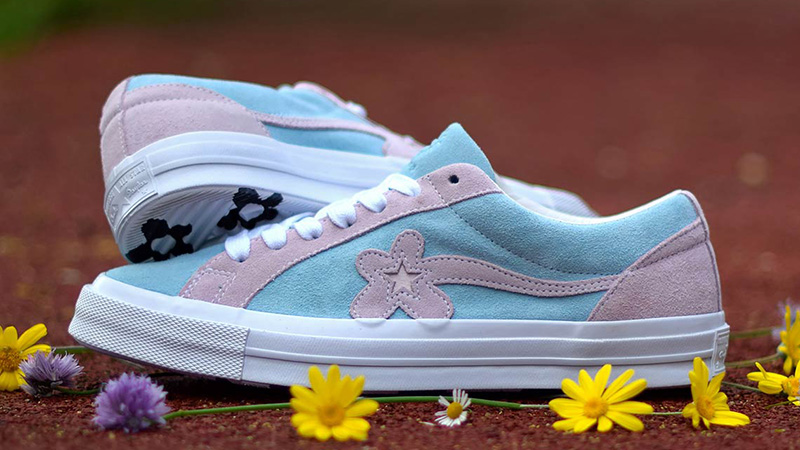 Converse x Golf Le Fleur One Star Pink Blue 162127C 04