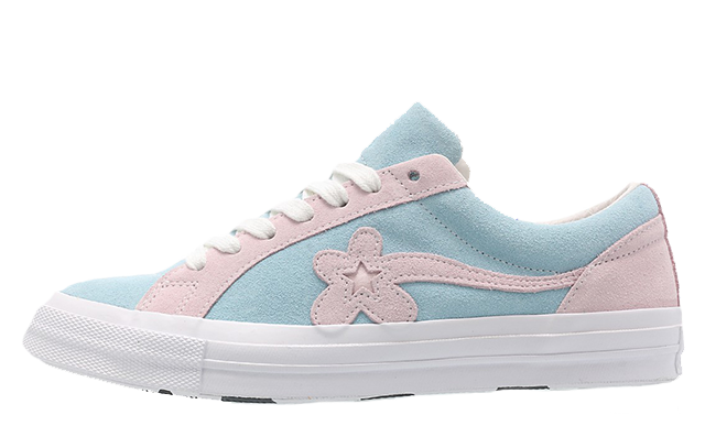 Converse x Golf Le Fleur One Star Pink Blue 162127C