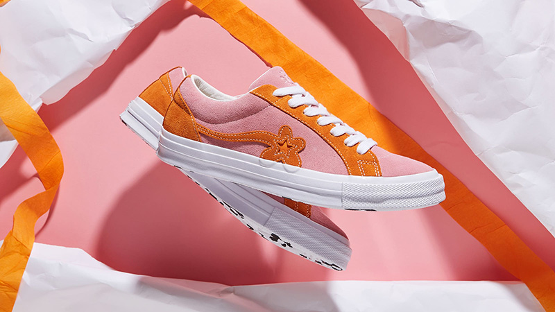 Converse x Golf Le Fleur One Star Pink Orange 162125C 03 33496b7b3