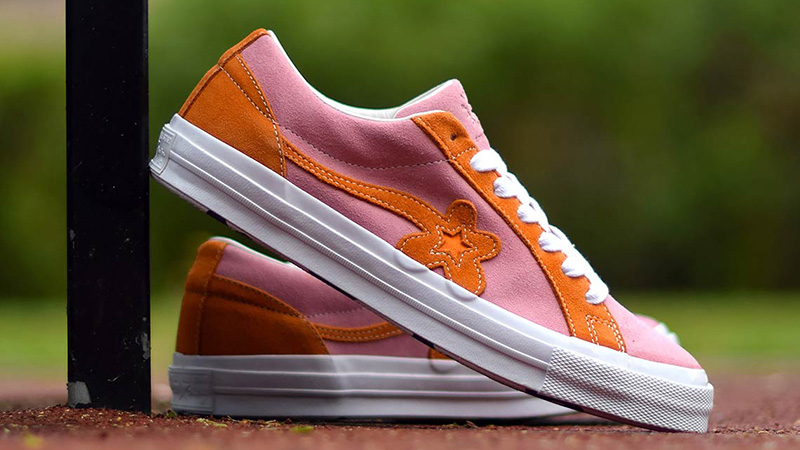 Converse x Golf Le Fleur One Star Pink Orange 162125C 04 0e9f57f46