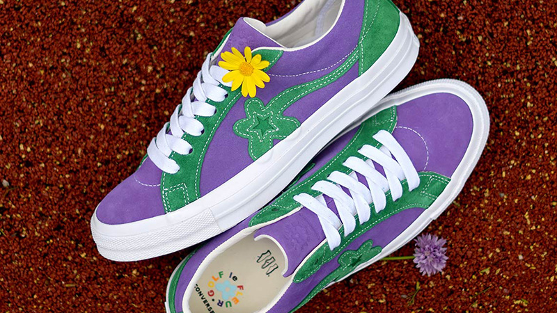 Converse x Golf Le Fleur One Star Purple Green | 162128C | The