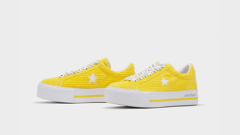 101d56605374b0 Converse x MadeME One Star Platform Yellow 561393C 03