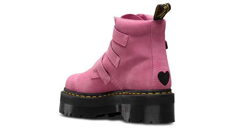 edfa5e75fb70 Dr. Martens X Lazy Oaf Lo Buckle Boot Pink Womens 01