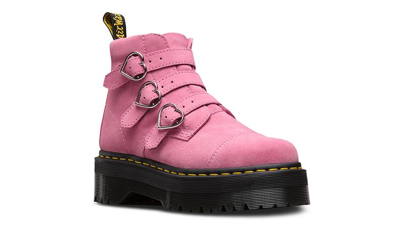 immagini dettagliate nuovo design sito web per lo sconto Dr. Martens X Lazy Oaf Lo Buckle Boot Pink Womens   The Sole Womens