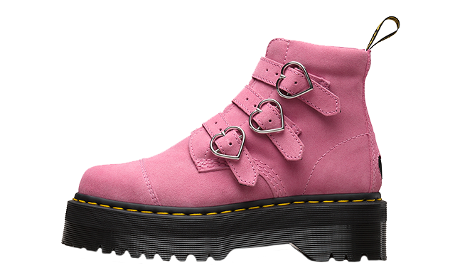 Dr. Martens X Lazy Oaf Lo Buckle Boot Pink Womens