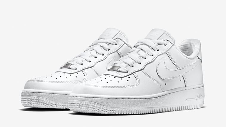 Nike Air Force 1 07 Triple White Womens   315115 112   The Sole Womens