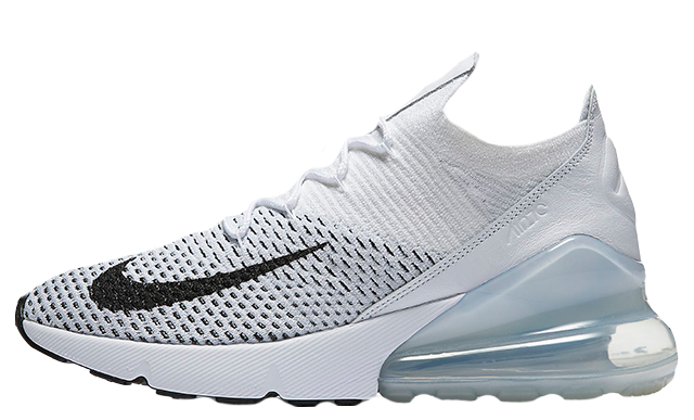 Nike Air Max 270 Flyknit White Womens | AH6803-100