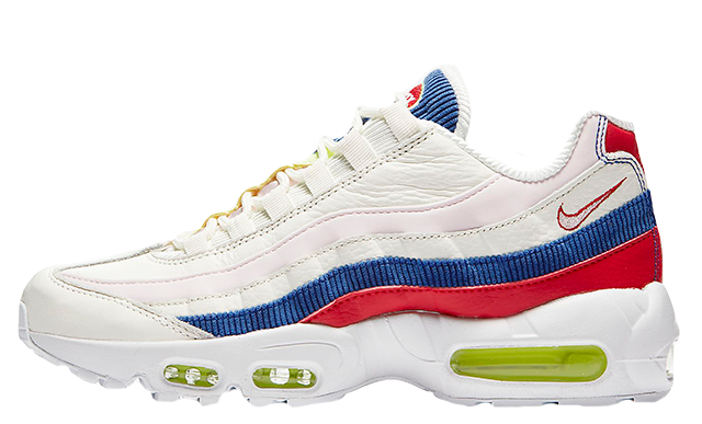 quality design a76e2 55eae The Nike Air Max 95 SE White Multi Womens is arriving very soon on May  17th, so be sure to hit that bell icon above for release reminders on the  run up to ...