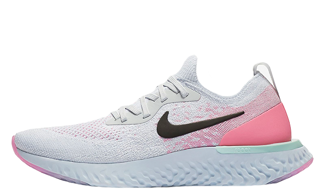 wholesale dealer 1c6ae 6f85c Nike Epic React Flyknit White Pink Womens  AQ0070-007