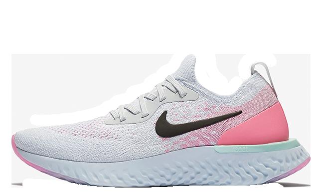 Nike Epic React Flyknit White Pink Womens | AQ0070-007