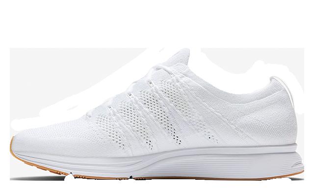 sports shoes 6b05e e35e7 Nike Flyknit Trainer White Gum Womens  AH8396-102