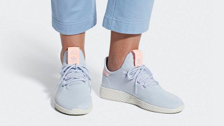 f1a7779b461 Pharrell x adidas Tennis Hu Aero Blue   B41884   The Sole Womens
