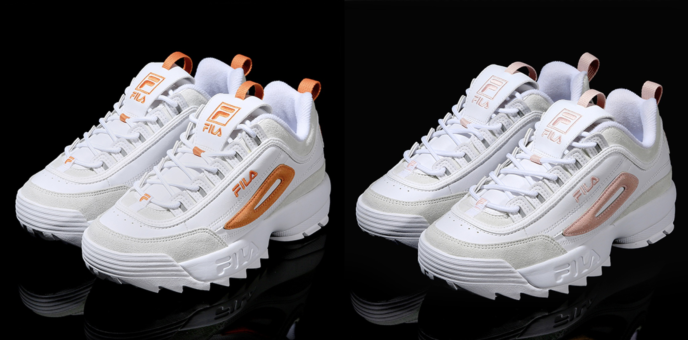 Ii And Disruptor The Over Pink Orange Take Hues Look Fila Closer 6Wwd8dq