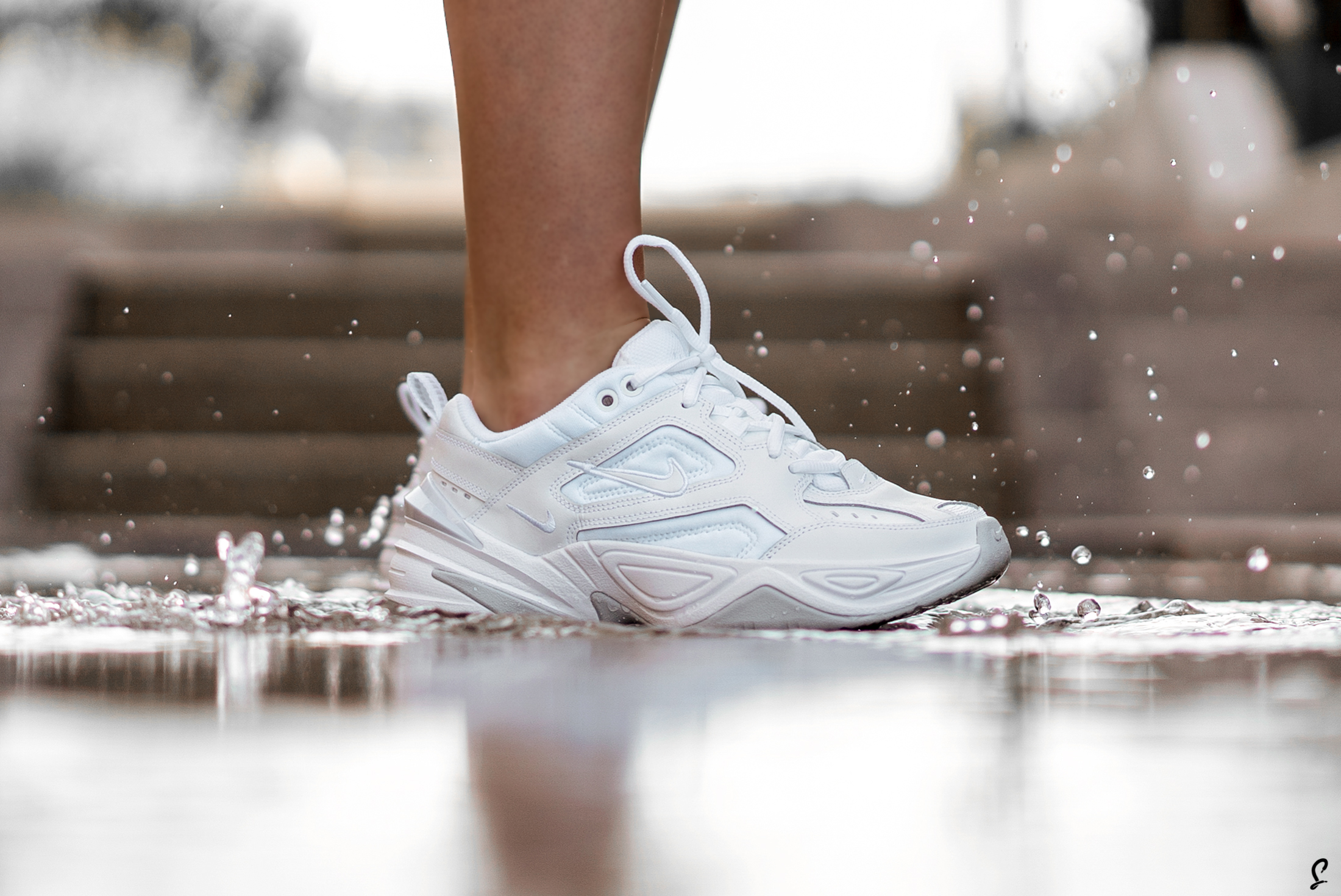 An Exclusive On Foot Look At The Triple White Nike M2K Tekno