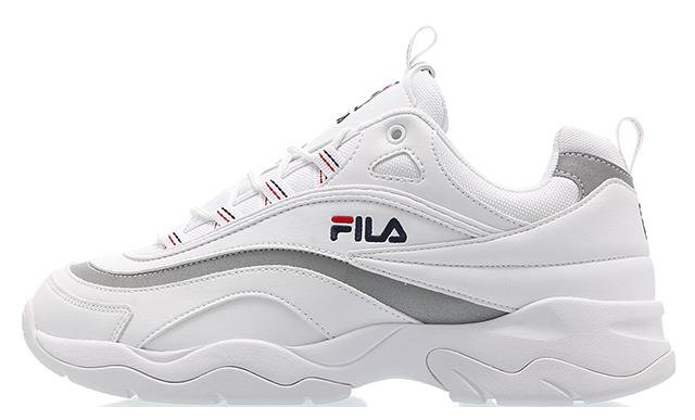 e30cab02 FILA Ray White Silver