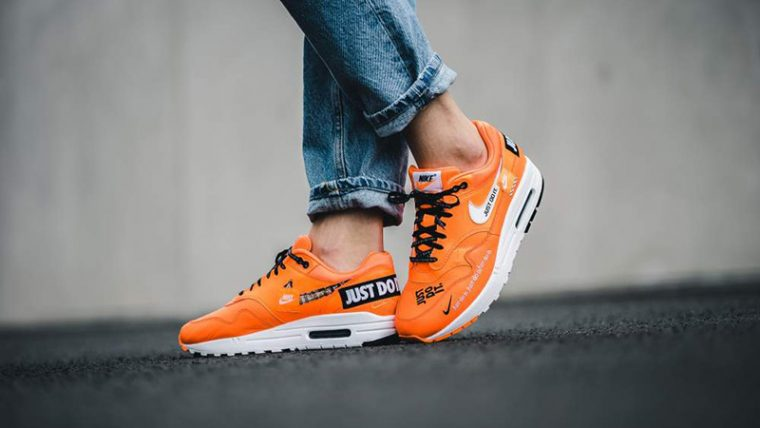 the latest 00136 f6c7f Nike Air Max 1 Just Do It Pack Orange Womens | 917691-800