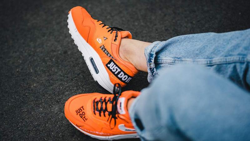 7d26fcf30f5b Nike Air Max 1 Just Do It Pack Orange Womens