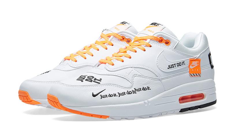 5bf7b73ff3b087 Nike Air Max 1 Just Do It White Womens 917691-100 03