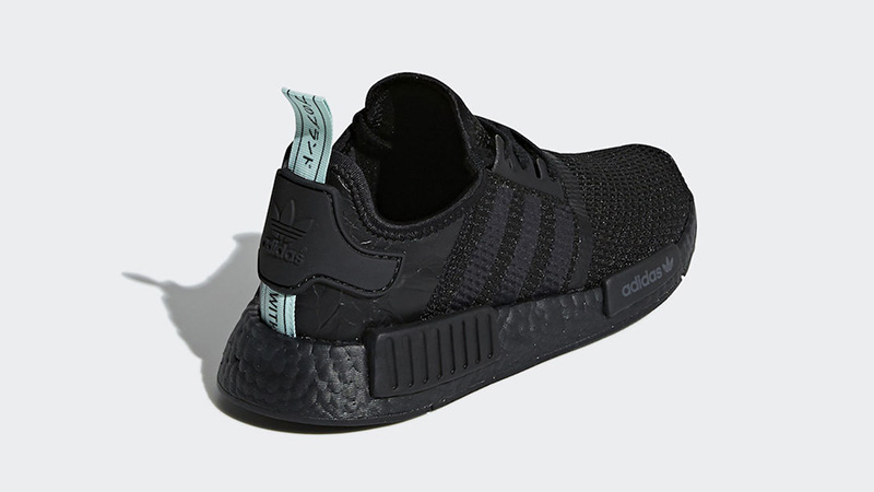 adidas NMD R1 Black Mint Womens  e934f8ccd9