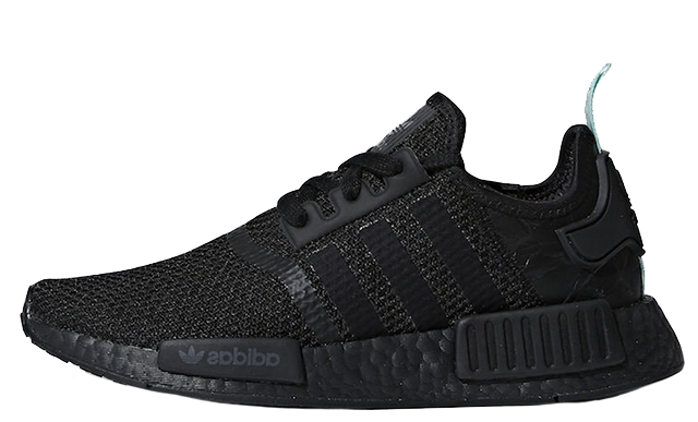 adidas NMD R1 Black Mint Womens | AQ1102