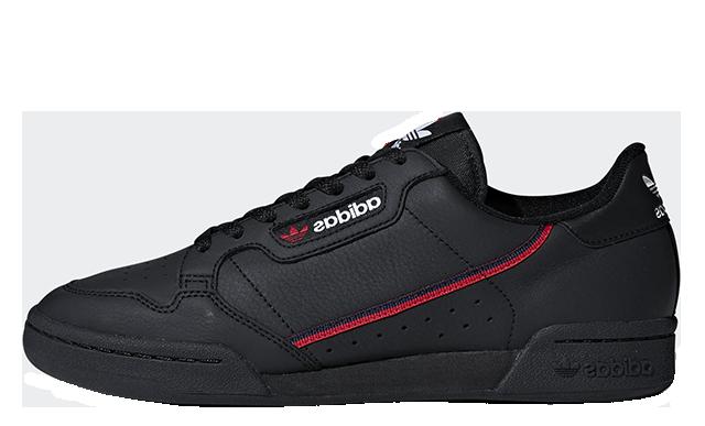 new arrival 7bdd5 6bd4f adidas Continental 80 Rascal Black   B41672
