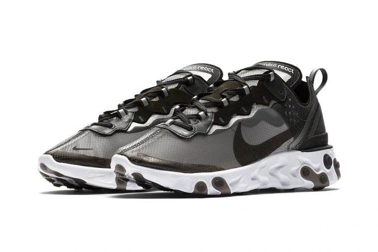 Nike React Element 87 Black White | AQ1090-001 thumbnail image