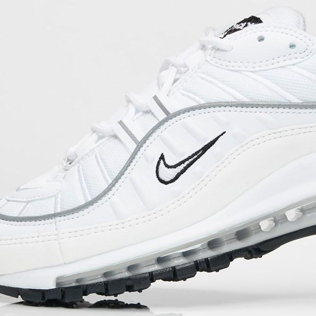 Nike Air Max 98 White Reflective Silver Womens | AH6799 103