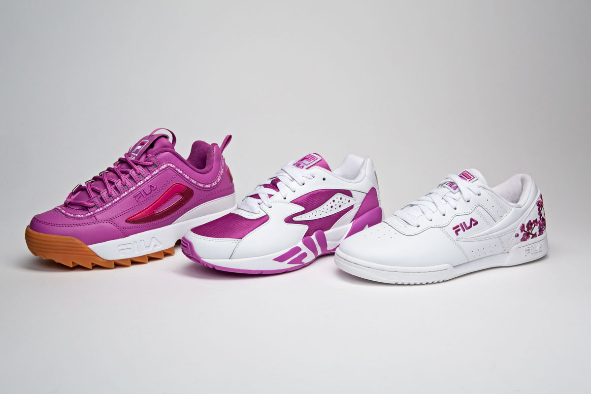 23922e08ae3c FILA Are Set To Launch An Exclusive Range Of Pink Sneakers At Champs Sports