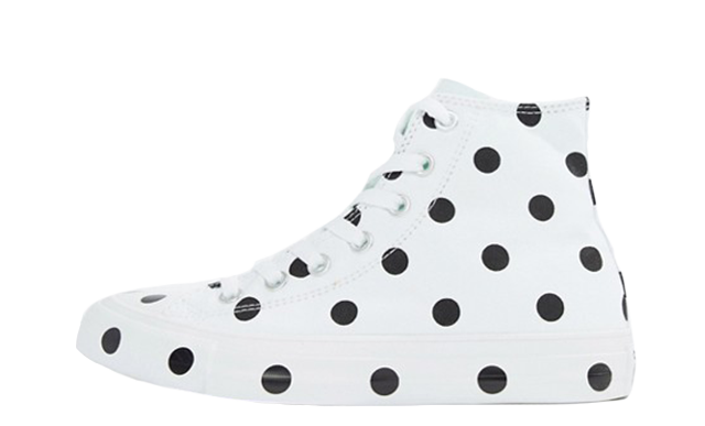 Converse Chuck Taylor All Star Hi Polka Dot White