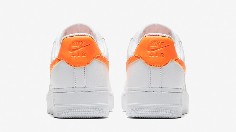 new product 57722 b0f09 Nike Air Force 1 07 Patent White Orange AH0287-101 01