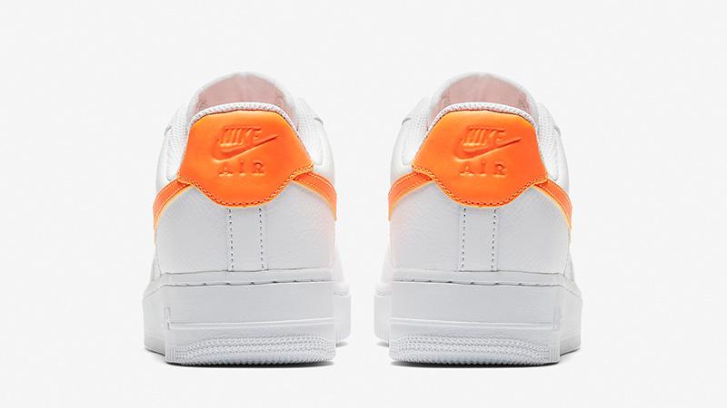 Nike Air Force 1 07 Patent White Orange