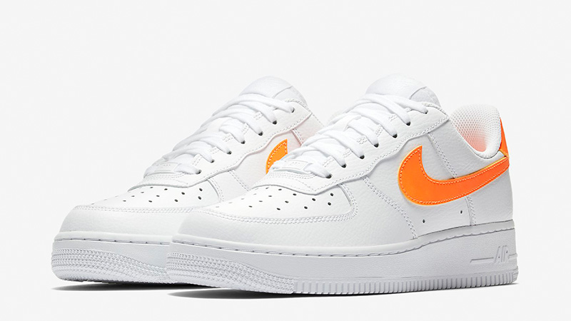 48a82eb472ac Nike Air Force 1 07 Patent White Orange AH0287-101 03