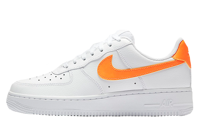 buy popular 329c3 28133 Nike Air Force 1 07 Patent White Orange | AH0287-101