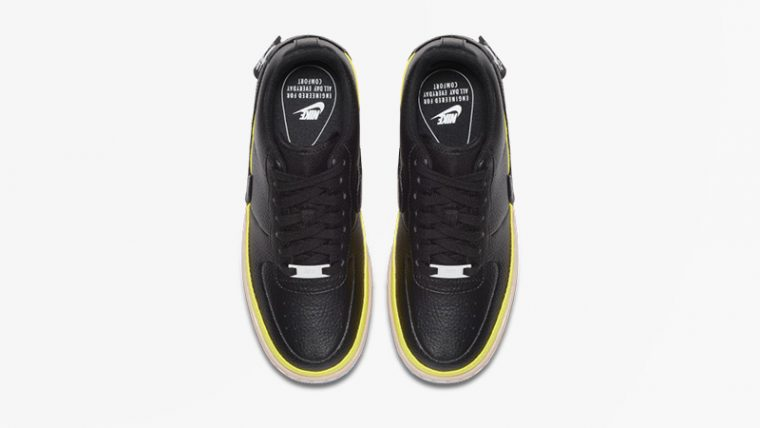 Nike Air Force 1 Jester Black Yellow AT2497-001 02 thumbnail image