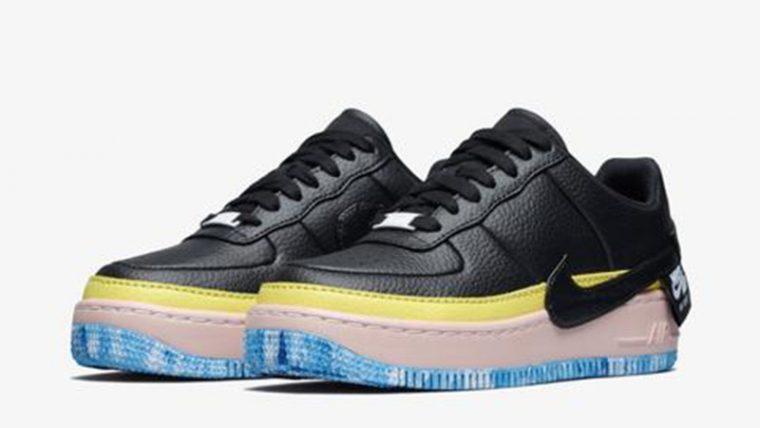 Nike Air Force 1 Jester Black Yellow AT2497-001 03 thumbnail image