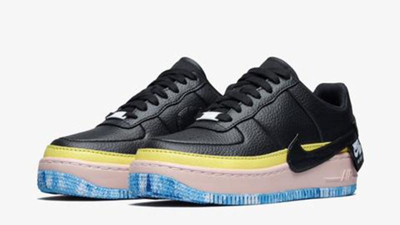Nike Air Force 1 Jester Black Yellow AT2497-001 03