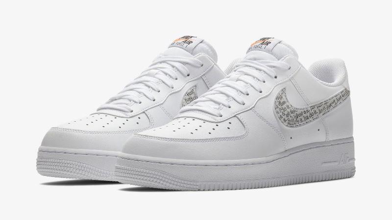 Nike Air Force 1 LV8 White Just Do it Pack BQ5361 100Eneste kvinder BQ5361 100 The Sole Womens