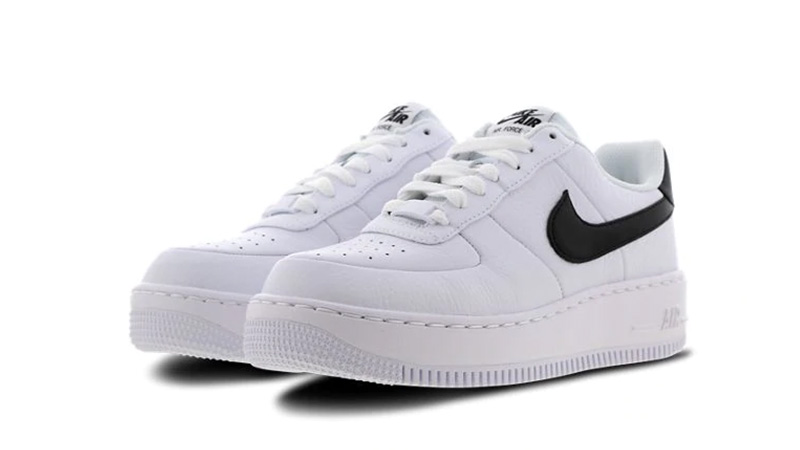 Nike Air Force 1 Upstep White Black Womens | AV8222 100