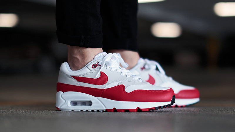 buy popular 6fbec 7e8b7 If the Nike Air Max 90 1 White Red Womens is at the top of your wishlist,  make sure to take note of Nike s August 2nd release date and check out our  full ...